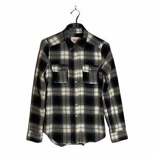 Mossimo Supply Co. Women's Gray Plaid Button Down Shirt
